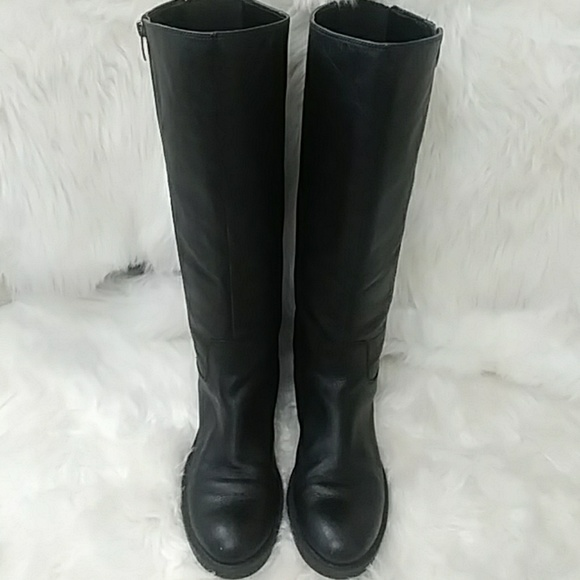 8ac67ebec06a Enzo Angiolini wide calf leather riding boots 9.5